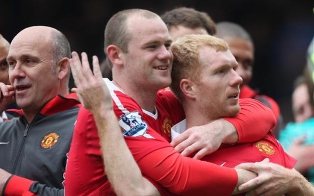Wayne Rooney & Paul Scholes