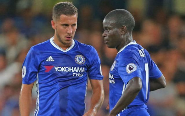 Hazard and Kante chelsea