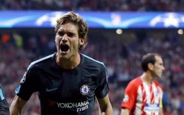 Marcos Alonso v Atletico Madrid