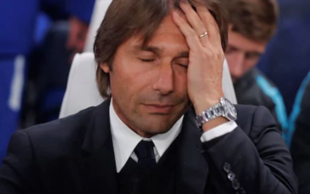 """He is a major hinderance"" - Chelsea supporters turn on manager Antonio Conte following Leicester stalemate"