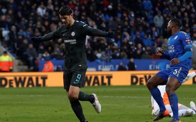 Alvaro Morata ends his goal drought as Chelsea scrape into the FA Cup semi-finals despite absence of Thibaut Courtois