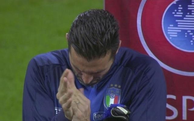 Gianluigi Buffon applauds Swedish national anthem as Italy fans boo
