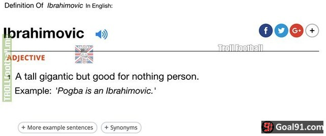 Definition of ibrahimovic in oxford dictionary soccer memes goal91 definition of ibrahimovic in oxford dictionary ccuart Images