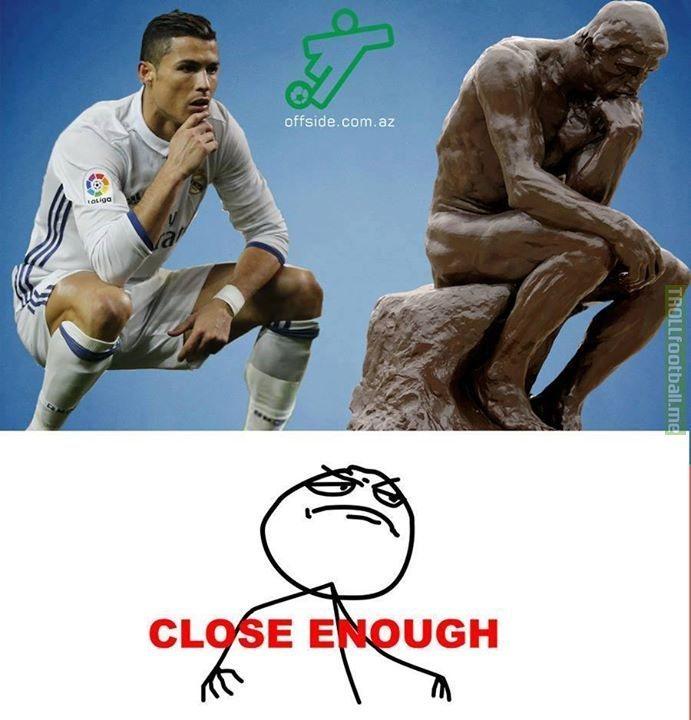 "Cristiano ""The Thinker"" Ronaldo"