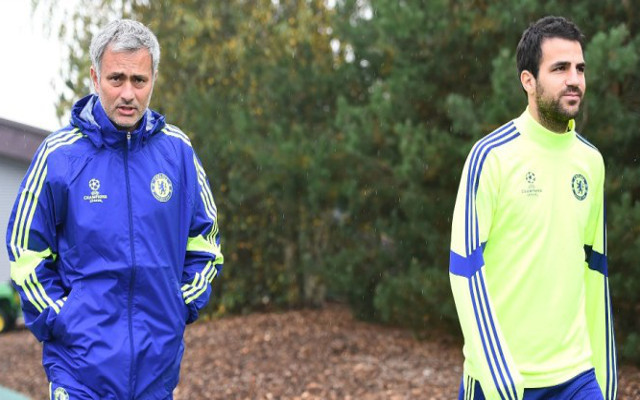 Fabregas and Mourinho at Chelsea