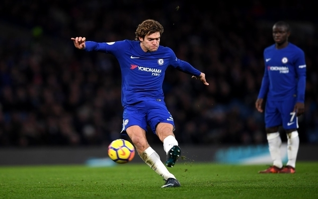 Video: Marcos Alonso whips in brilliant Chelsea goal, free-kick gets fans excited
