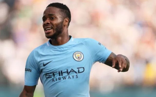 Raheem Sterling in action for Man City