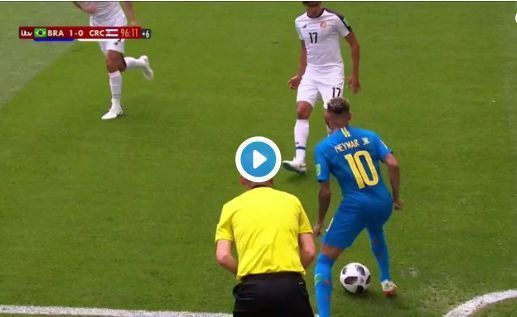 Video: Neymar skill for Brazil vs Costa Rica in World Cup win
