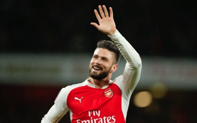 (Photo) Olivier Giroud praises Arsenal fans following Man Utd draw