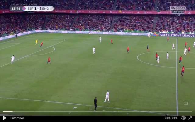 Video: Everton's Pickford makes comical error against Spain