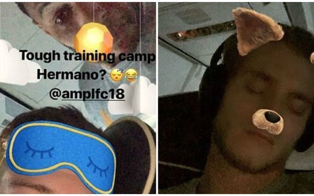 Photos: Liverpool ace trolls teammates as squad return from Marbella training camp