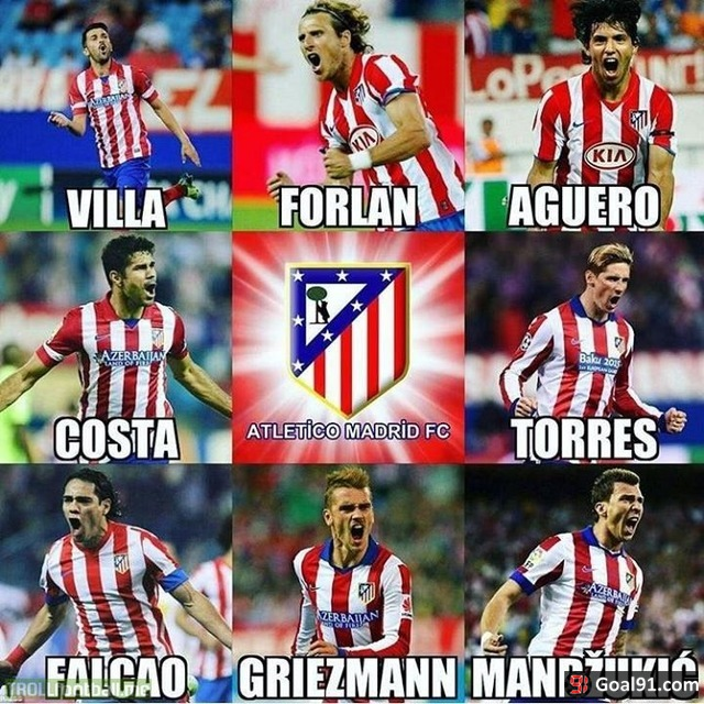 Atletico Madrid creating strikers ever since forever..