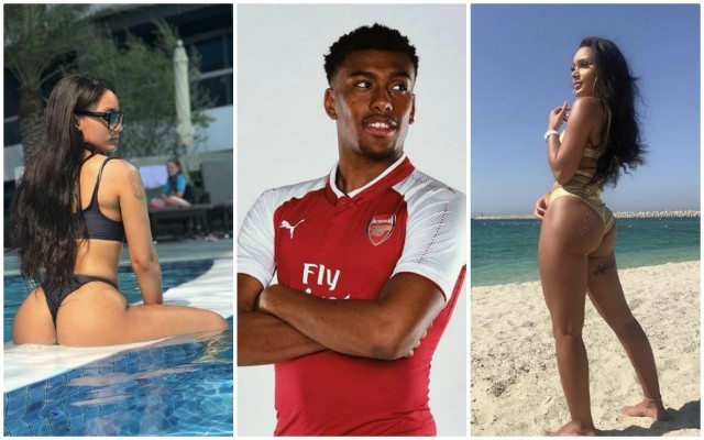 "Alex Iwobi girlfriend Clarisse Juliette gets ""wet"" as Arsenal WAG posts hot beach photos from Dubai while her man prepares for Europa League clash in Belarus"