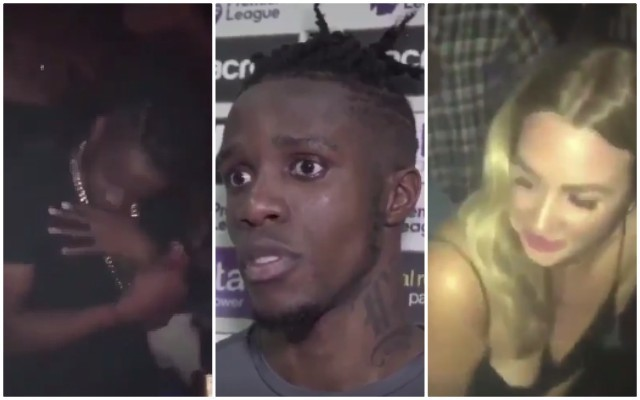 "(Video) Wilfried Zaha filmed dancing next to twerking blonde by Crystal Palace chairman's daughter after telling media he was ""exhausted"" and going to ""just chill out with my son and watch TV"""