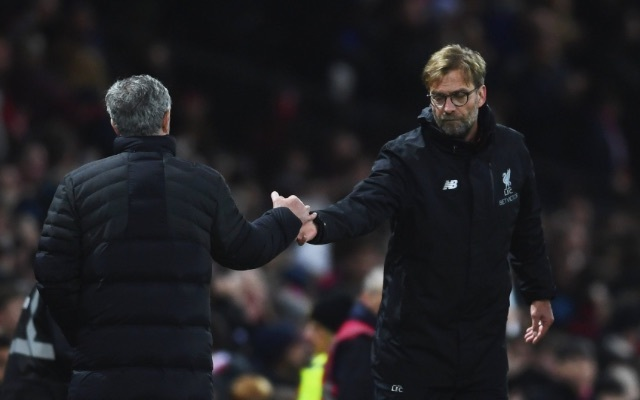 Liverpool boss Jurgen Klopp aims dig at Jose Mourinho's Manchester United tactics