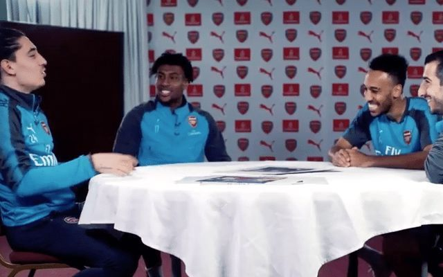 Video: Arsenal stars in stitches talking player chants, get destroyed by fans on eve of AC Milan clash
