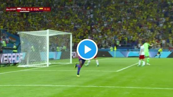 Video: James Rodriguez's delightful pass for Juan Cuadrado's goal