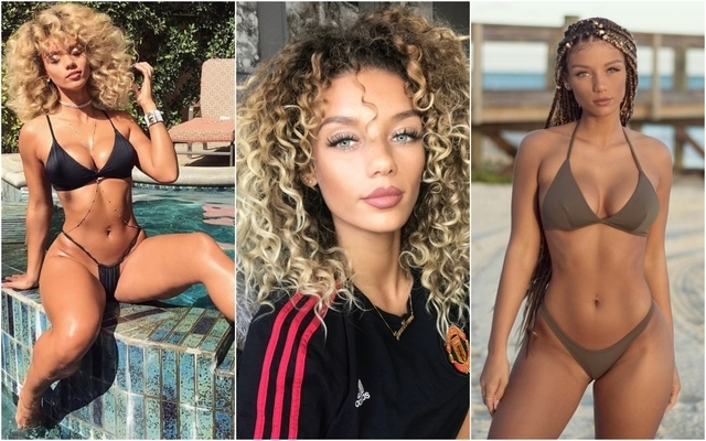 Jesse Lingard WAG: Jena Frumes strips down to show her support for Man Utd star