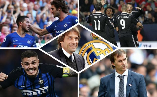 Two in, Two out: Antonio Conte wants squad shake-up at Real Madrid should he replace Julen Lopetegi as manager