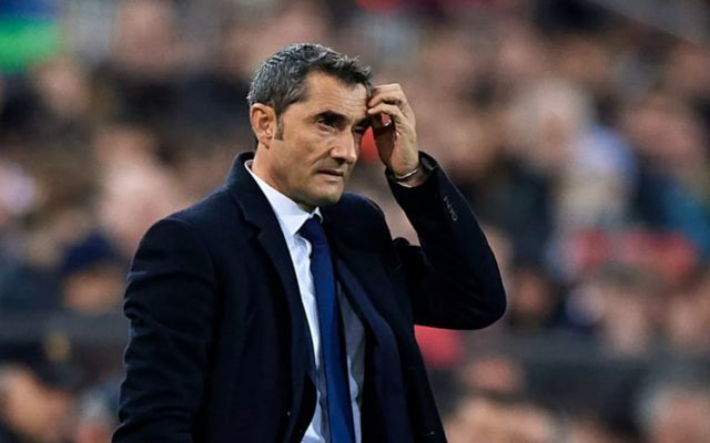 Barcelona injury blow: Six-week layoff confirmed to give Ernesto Valverde serious concern