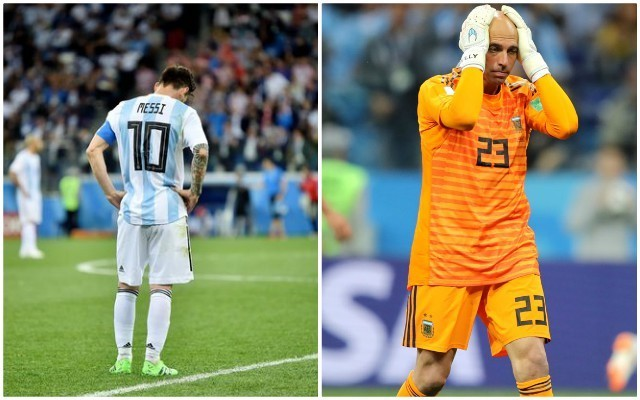 Argentina vs Croatia: Lionel Messi reaction to Willy Caballero