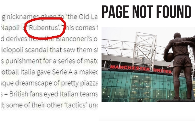 Man Utd remove controversial article ahead of facing Juventus in Champions League