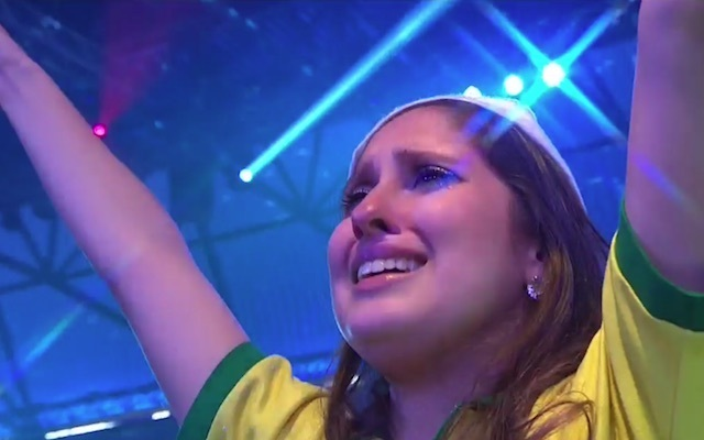 Diogo Portela female fan causes scene at Ally Pally as hot darts lover cries her eyes out before Brazilian thrower's PDC World Championship debut against Peter Wright