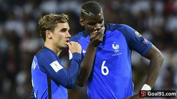 Football: Griezmann admits desire to play alongside United star Pogba