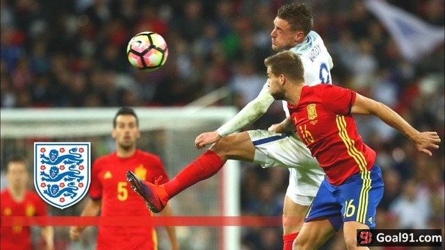 VIDEO: Lallana & Vardy set up England, but Spain salvaged a 2-2 draw (Video)