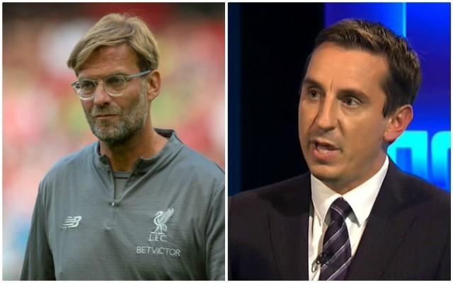 Video: Unimpressed Jurgen Klopp responds to Gary Neville after Liverpool advice on Champions League