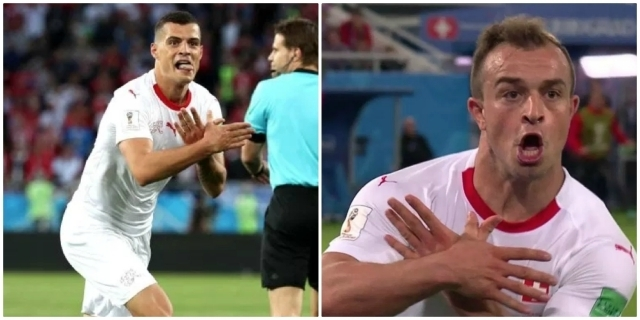 Granit Xhaka and Xherdan Shaqiri's celebrations explained as Switzerland defeat Serbia