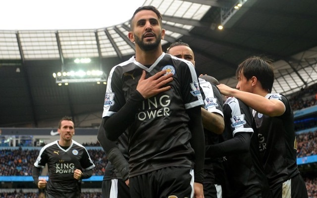 Riyad Mahrez Leicester v Man City