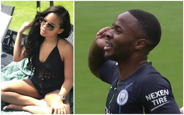 (Photo) Raheem Sterling girlfriend Paige Milian shushes haters