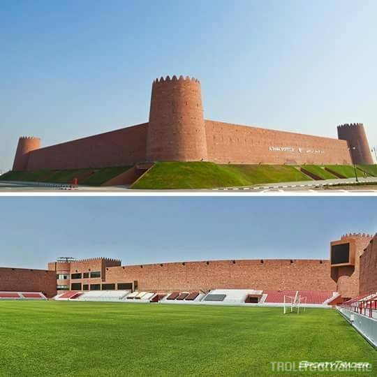 This is no castle. This is a stadium in Qatar.