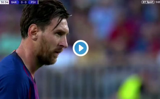 Video: Lionel Messi scores superb free-kick to give Barcelona lead vs PSG in Champions League bout