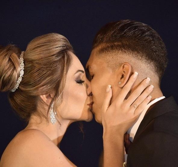 Roberto Firmino and Larissa Pereira got married this summer
