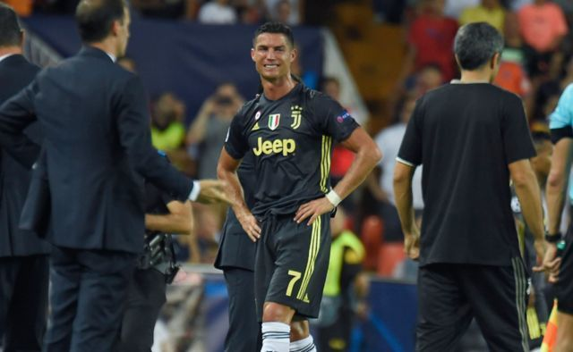 What Cristiano Ronaldo said to officials after receiving red card in Juventus' Champions League opener