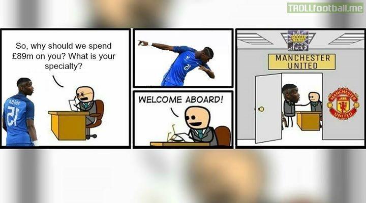 How United signed Pogba.
