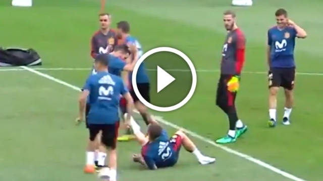 Video: Sergio Ramos TROLLS Cristiano Ronaldo in Spain training after Portugal draw, TEASES Nacho