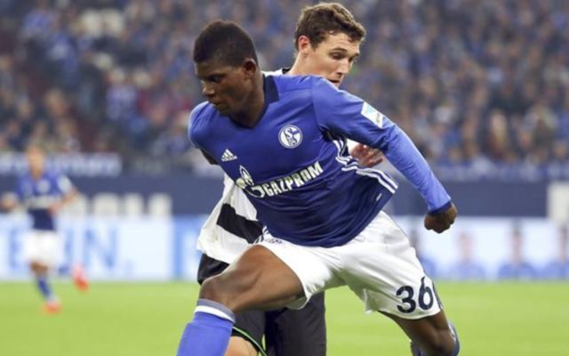 Breel Embolo in action for Schalke
