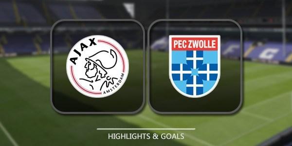 VIDEO Ajax 3 - 0 PEC Zwolle (Eredivisie) Highlights