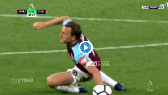 Video: Manchester United fans love what Luke Shaw did during spat between Paul Pogba and Mark Noble | CaughtOffside