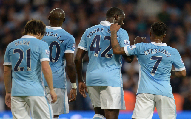 (Photo) Yaya Toure reveals it is 'good to be back' for Man City