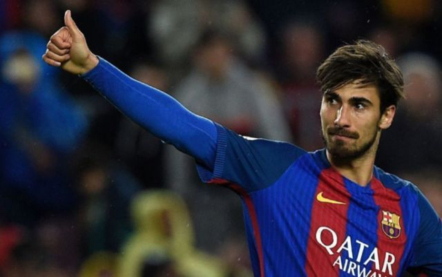 Barcelona's Andre Gomes