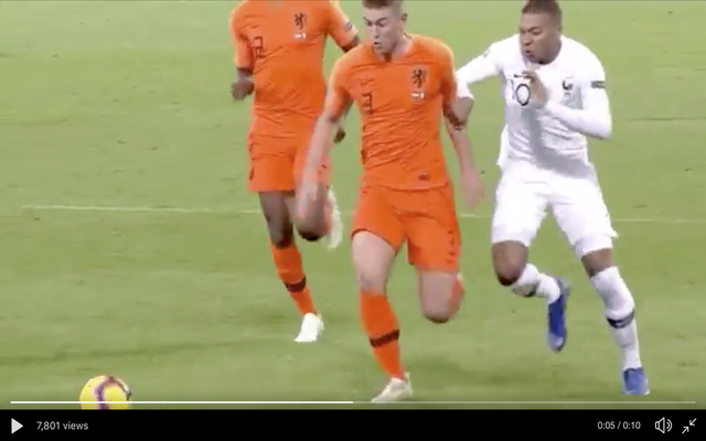 Video: Lightning Matthijs de Ligt matches Mbappe for pace
