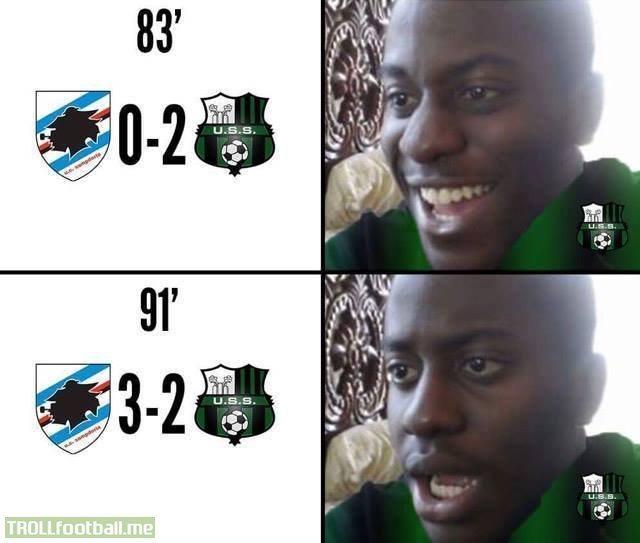 U.C. Sampdoria vs U.S. Sassuolo