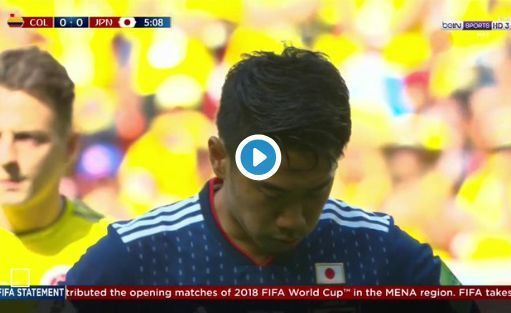 Video: Shinji Kagawa scores ice-cool penalty to as Japan 1-0 up vs ten-man Colombia