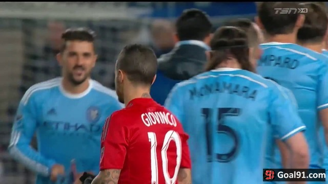 VIDEO: Sebastian Giovinco bags a hat-trick as Toronto FC rout New York City FC
