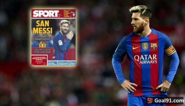 European Paper Review: Messi hailed as a saint, Bayern labelled rubbish, Inter back on track