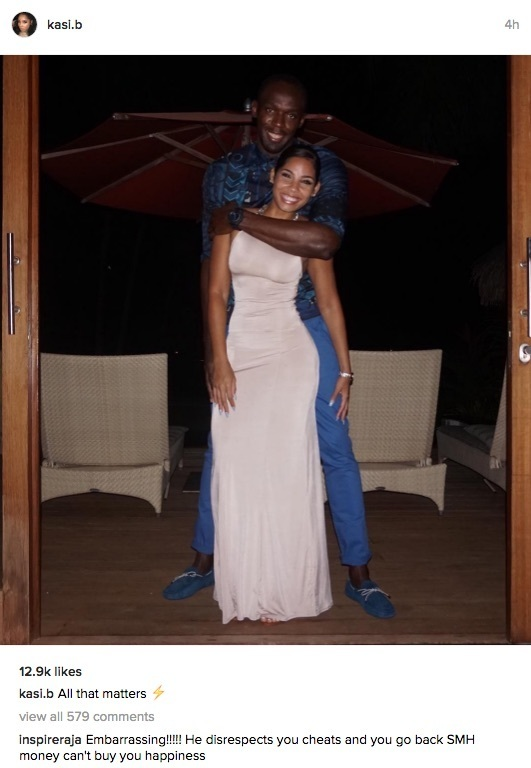 Usain Bolt girlfriend Kasi Bennett on Instagram